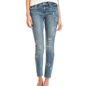 Lucky Brand Star Distressed Skinny Jeans